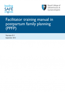 PPFP training manual front cover