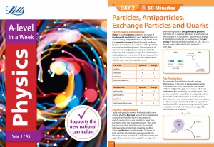 Letts Physics Y1 front cover and page 24