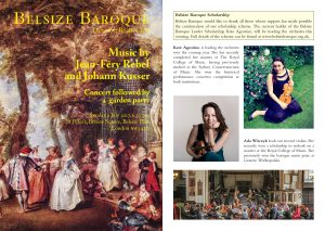 Belsize Baroque 2 July 2017 programme notes