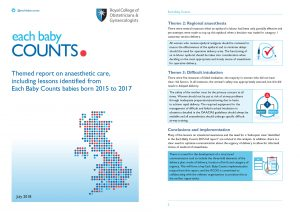 Each Baby Counts 2018 anaesthetic report