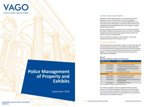Police Management of Property and Exhibits